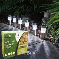 8/16 Solar Crystal Garden Lights Post Patio Outdoor Led Lighting Stainless Steel