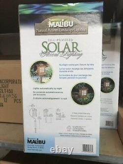 (8) Intermatic Malibu LED Outdoor Solar Yard Garden WOODEN LANDSCAPE LIGHTS NEW