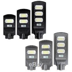 900W LED Solar Street Garage Light PIR Sensor Outdoor Garden Yard Wall FloodLamp