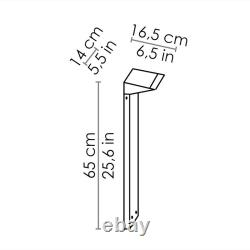 Ai Sides Solar LED Ground Pole for the Garden With Solar Panel Crepuscular And B