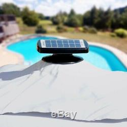Cantilever Garden Parasol with Built In Solar LED Square 3x3m PARADISE
