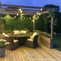 ConnectGo Plug Solar Battery Outdoor LED Festoon Fairy Lights Garden Home