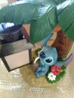 Disney Stitch Figure Solar Light Garden Lamp Ornament LED 30cm Kato Kogei New