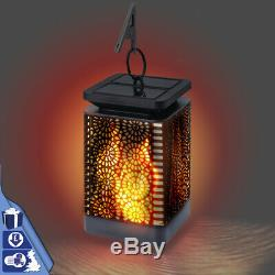 Flickering Flame Lamp Solar Light Garden Auto On/Off Waterproof Flame Effect LED