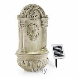 Fountain Garden Solar Outdoor Waterfall Pump Decor 2 W LED Polyresin Stone Look