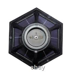 GAMA SONIC Polaris Solar Medium 1-Light Black Resin LED Outdoor Post Light