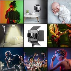 GVM RGB LED Video Lighting Kit, 800D Studio Video Lights with APP Control, Video