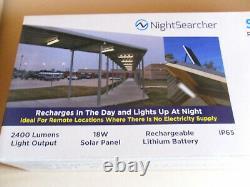 Garden Garage Solar Light 2400 Lumens Remote Control Rechargeable Led Light New