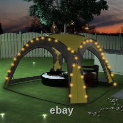 Garden Hot Tub Gazebo XL Dome 3.6m Solar Led Lights Event Shelter with4 Side Panel