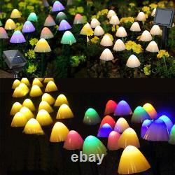 Garden Mushroom Ornaments Decor LED Outdoor Yard Landscape Solar String Lights