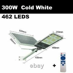 Garden Street Light Solar Powered Waterproof LED'S With Wireless Remote Controls