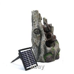 Garden Water Pump Feature Fountain Pond In/Outdoor Waterfall Cascade Solar LED