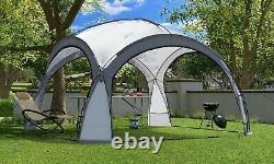 Garden arbour 3.5x3.5m con iluminación LED y colector solar. Carpa de fiesta