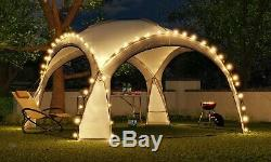 Garden arbour 3.5x3.5m with LED lighting and solar collector. Party tent, Garden