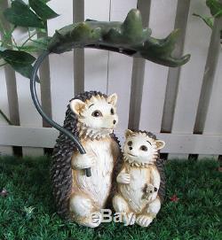 Gardenwize Solar LED Light Garden Yard Baby Hedgehog Under Leaf Ornament Statue