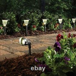 Hampton Bay LED Landscape Path Light 12-Volt Outdoor Glass Lens Metal (8-Pack)
