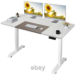 Homall Height Adjustable Electric Standing Desk With 140 x 72 Cm Wood Desktop Up