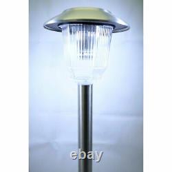 Homebrite Solar Power Olympus Path Lights Set of 8 Outdoor Garden Yard Lighting
