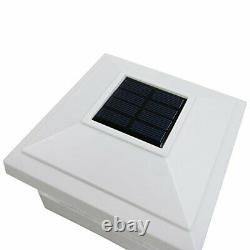 IGlow 18 Pack White Outdoor Garden 5 x 5 Solar LED Post Deck Cap Square Fence