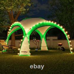 LED-Event Gazebo Party Tent Garden Area Green Tent Solar Camping Pavilion 3.6M