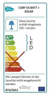 LED Sitzwürfel Solar+Batterie 43x53cm IP65 Farbwechsel Fernbedienung NewGarden