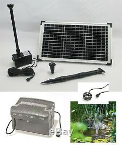 LED Solar Pump With Battery Garden Pond Fountain Dive 20 Watt