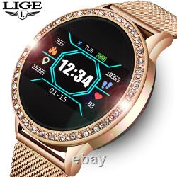 LIGE Ladies Smart Watch Women Blood Pressure Heart Rate Monitor Fitness tracker