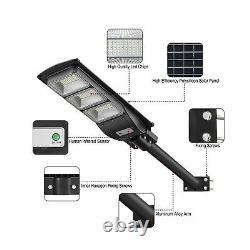 LOVUS Solar Street Light 2 Pack 6000LM LED Solar Power Street Lamp Outdoor