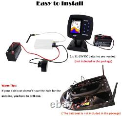 LUCKY Wireless Fish Finder, Fishfinder for Bait Boat with 980ft300m Operation