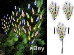 Livivo 3/6 Tree Leaf Solar Garden Led Lights Multi Colour Acrylic Branch Outdoor