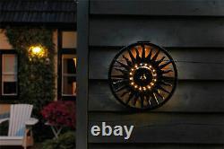 Luxform Garden Outdoor Solar LED Sun Metal Wall Ornament Decoration Light