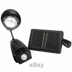 New 9 Led Security Light Solar Panel Garden Rechargeable Shed Outdoor Home Door
