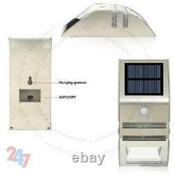 New Outdoor Garden Lamp Solar Powered Led Security Wall Spot light Pir Sensor