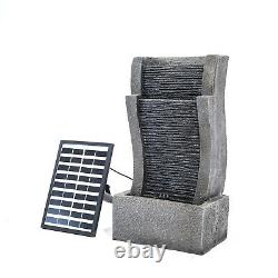 Outdoor Cascading LED Water Fountain Garden Waterfall Feature Statue with Lights