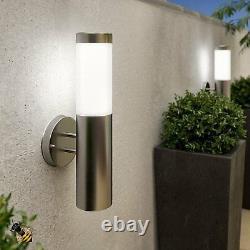 Outdoor Garden Solar Wall Light Stainless Steel New