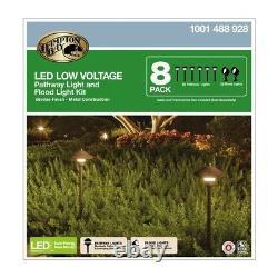 Outdoor Landscape Walkway Light Set Low Voltage LED Pathway Home Garden Yard 8PK