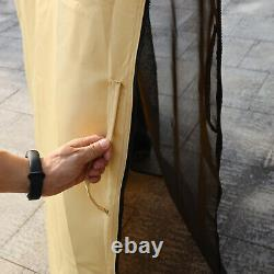 Outsunny 3x3.6m Garden Gazebo Tent with LED Solar Light Wedding Party Sunshade
