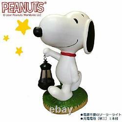 PEANUTS SNOOPY Cute Figurine Solar Lantern 14 Home Garden New F/S from Japan