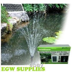 Pondxpert Solar Shower Garden Fountain Pond Pump & LED Light Solar Powered Pump