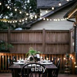 Retro Solar String Lights Outdoor Garden LED Festoon Globe 20 Bulbs Summer Lamp