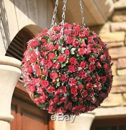 SOLAR TOPIARY BALL LIGHTS 28cm 20 LED LIGHTS DUEL SPHERE GARDEN NEW