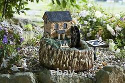 Smart Garden Solar Powered Water Mill Fountain Water Feature LED Garden Patio