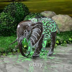 Smart Solar Metal Silhouette Elephant Garden Patio Path Solar LED Light
