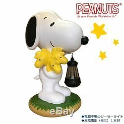 Snoopy Peanuts Led Solar Light Garden Yard Object Ornament Statue Woodstock New
