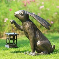 Solar LED Big Bunny Garden Lantern Sculpture