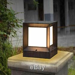 Solar Landscape Lawn Lamp Waterproof Outdoor Garden Gate Pillar Pathway Light