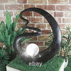 Solar Led Light Decorative Medusa Ornament Outdoor Patio Deck Garden Feature