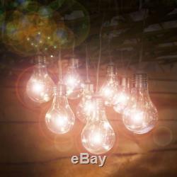 Solar Led Retro Bulb String Lights Garden Outdoor Fairy Summer Lamp Led Lights