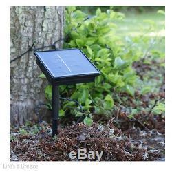 Solar Lights. 5M or10M LED Fairy String Lights, Garden, & Telescopic Flag Poles Use