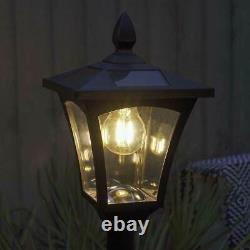 Solar Power Outdoor Garden Security Filament LED Lamp Post Welcome Wall Light